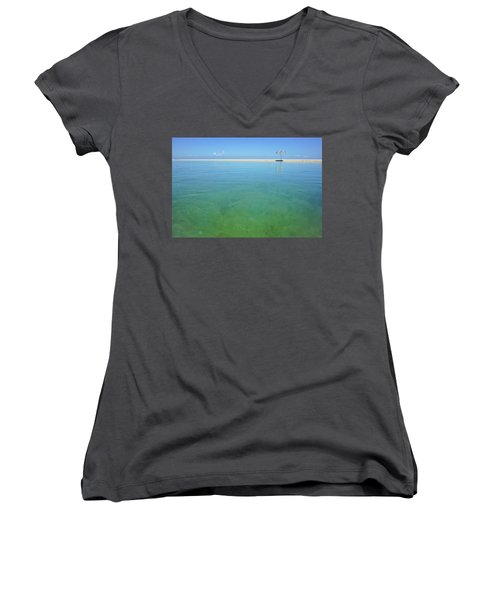 The Colours Of Paradise On A Summer Day Women's V-Neck