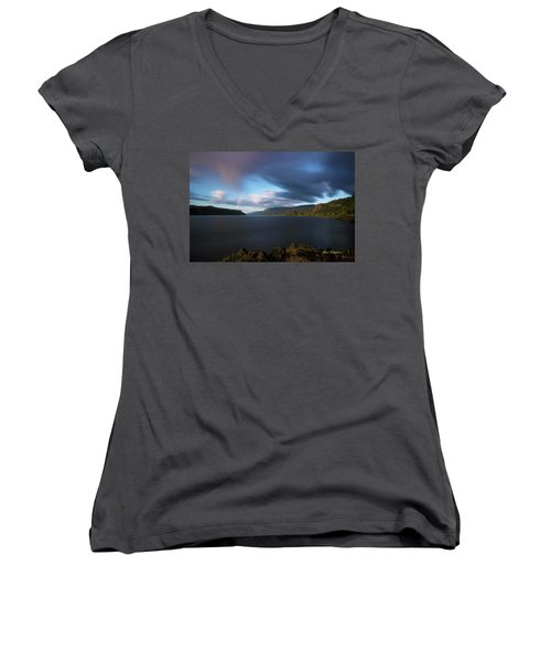 The Columbia River Gorge Signed Women's V-Neck
