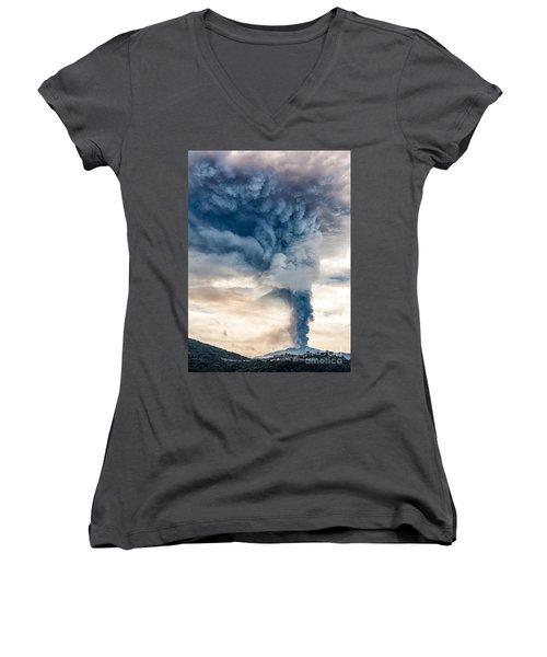 The Column Women's V-Neck T-Shirt (Junior Cut) by Giuseppe Torre