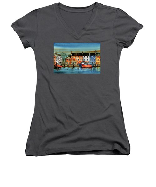 The Commercial Docks, Galway Citie Women's V-Neck