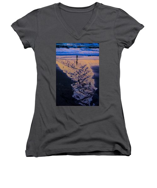 The Comming Day Women's V-Neck T-Shirt (Junior Cut) by Dale Stillman