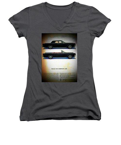 The Complete Line Women's V-Neck T-Shirt (Junior Cut) by John Schneider