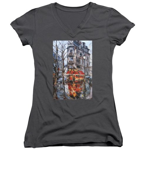 The Corner Cafe Women's V-Neck T-Shirt