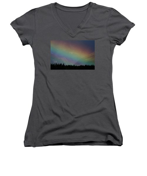 Women's V-Neck T-Shirt (Junior Cut) featuring the photograph The Covenant  by Cathie Douglas