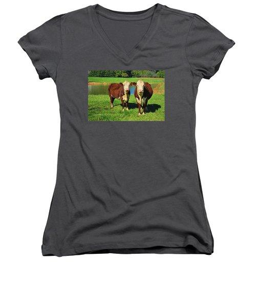 The Cow Girls Women's V-Neck T-Shirt