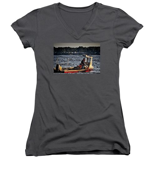 The Crabber Women's V-Neck T-Shirt