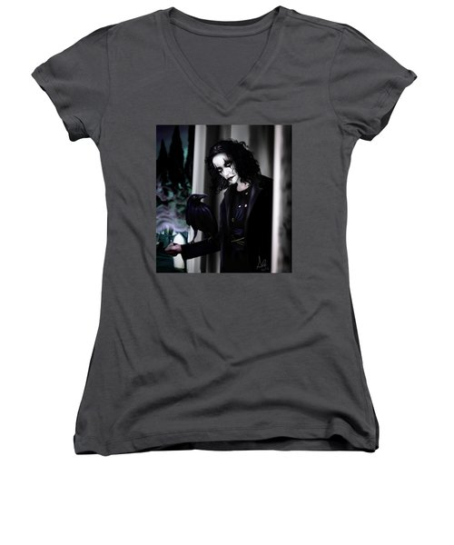 The Crow Women's V-Neck (Athletic Fit)
