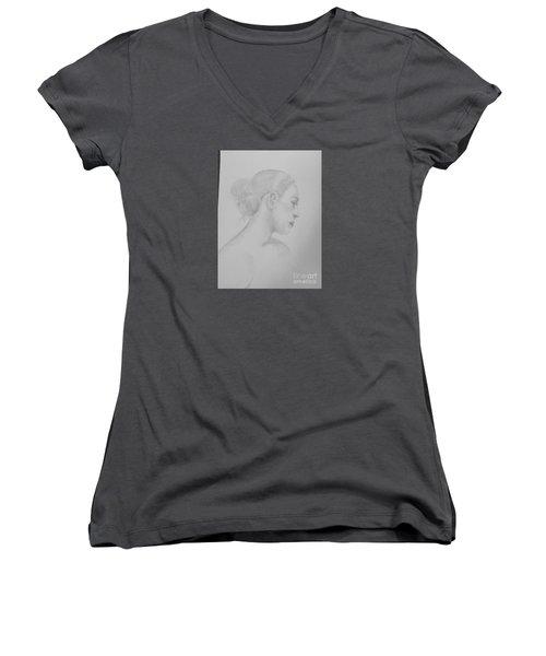 The Dancer Women's V-Neck T-Shirt (Junior Cut)