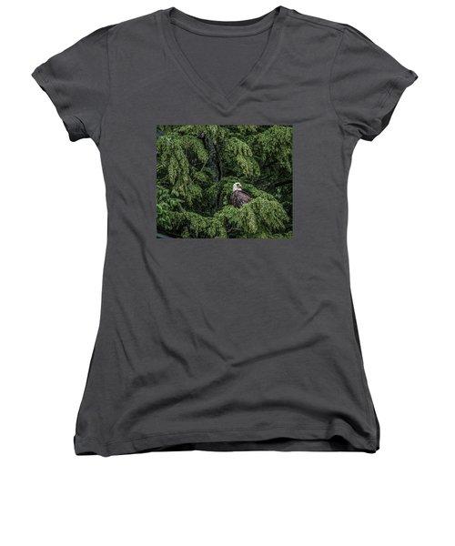 The Dark Eyed One Women's V-Neck T-Shirt (Junior Cut) by Timothy Latta