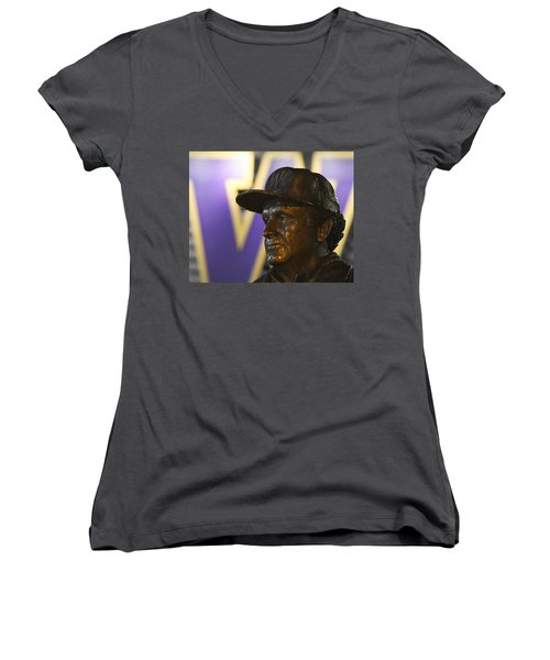 The Dawg Father Women's V-Neck (Athletic Fit)