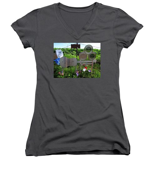 The Day The Music Died Women's V-Neck (Athletic Fit)