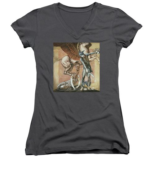 The Death Of Medusa I Women's V-Neck (Athletic Fit)