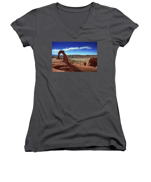 The Delicate Arch Women's V-Neck T-Shirt