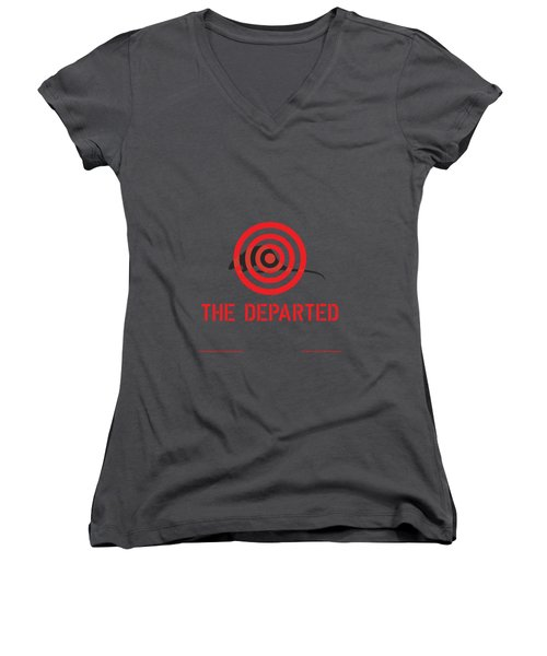 The Departed Women's V-Neck T-Shirt (Junior Cut) by Gimbri