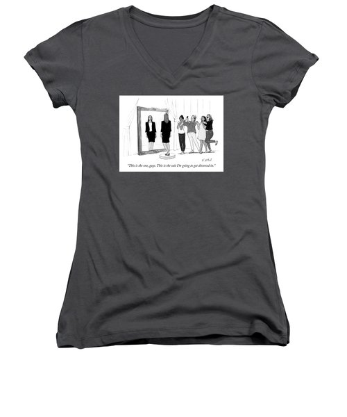 The Divorce Suit Women's V-Neck