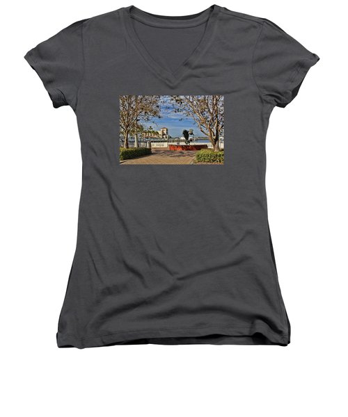 The Downtown Bradenton Waterfront Women's V-Neck (Athletic Fit)