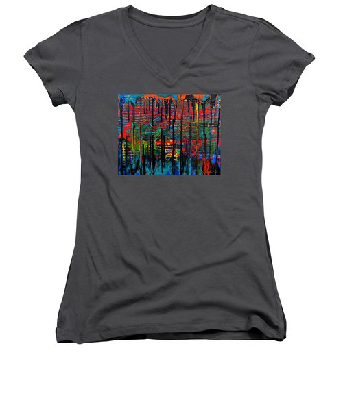 The Drip Women's V-Neck T-Shirt