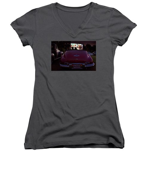 The Drive- In Women's V-Neck