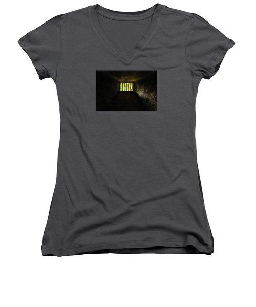 The Dungeon Women's V-Neck T-Shirt (Junior Cut) by Marwan Khoury