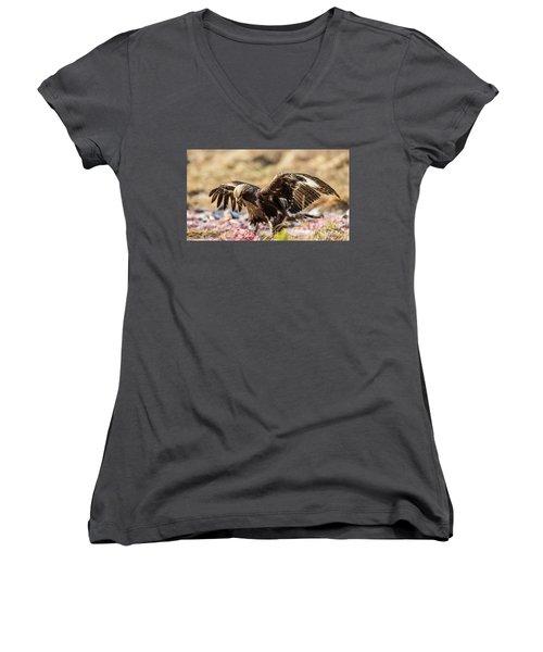 The Eagle Have Come Down Women's V-Neck T-Shirt (Junior Cut) by Torbjorn Swenelius