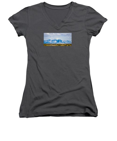 The Eagle Or Condor And Heart Women's V-Neck (Athletic Fit)