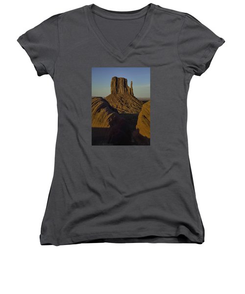 Women's V-Neck T-Shirt (Junior Cut) featuring the photograph The Earth Says Hello by Rob Wilson