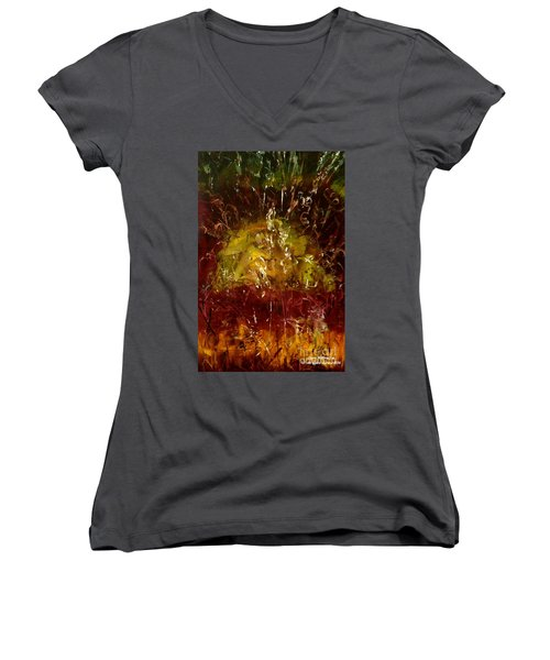The Elements Earth #4 Women's V-Neck T-Shirt
