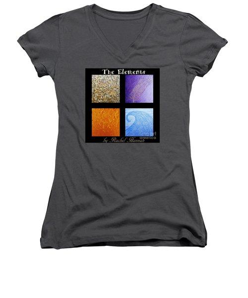 The Elements Women's V-Neck T-Shirt (Junior Cut) by Rachel Hannah