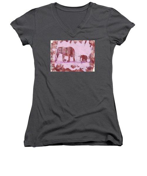 The Elephant March Women's V-Neck