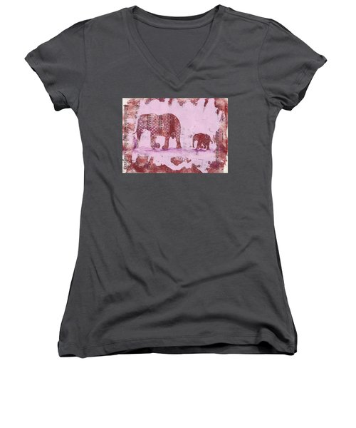 The Elephant March Women's V-Neck