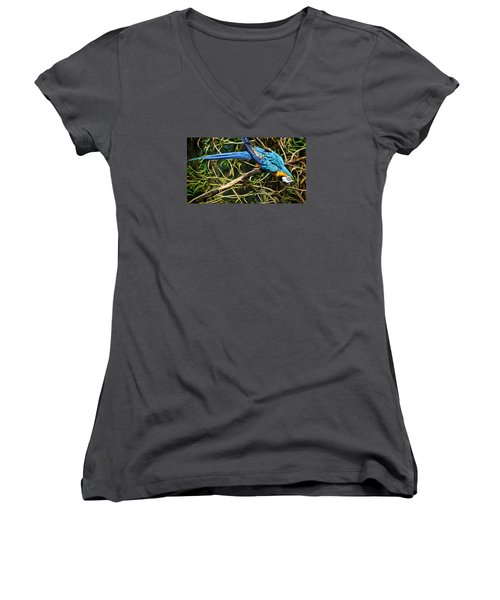 Women's V-Neck T-Shirt (Junior Cut) featuring the photograph The Enchanted Forest by Cameron Wood