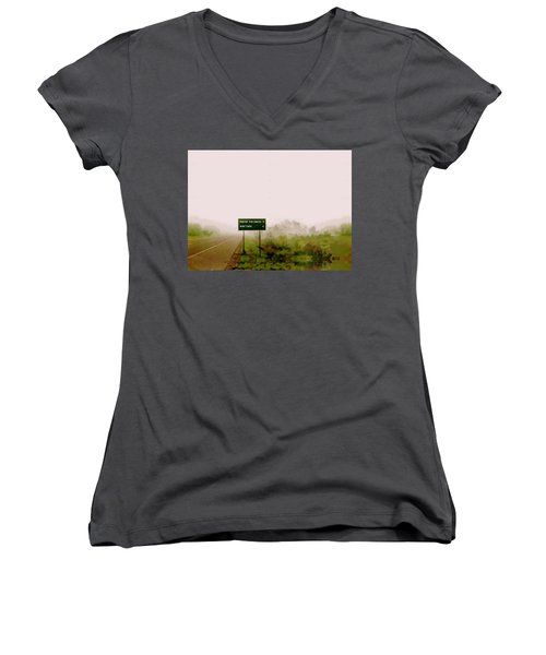The End Of The Earth Women's V-Neck