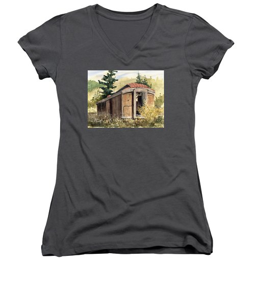 The End Of The Line Women's V-Neck T-Shirt