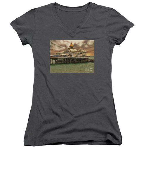 The End Of The Pier Show Women's V-Neck