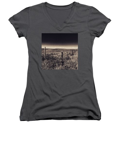 The End Of The Range Women's V-Neck