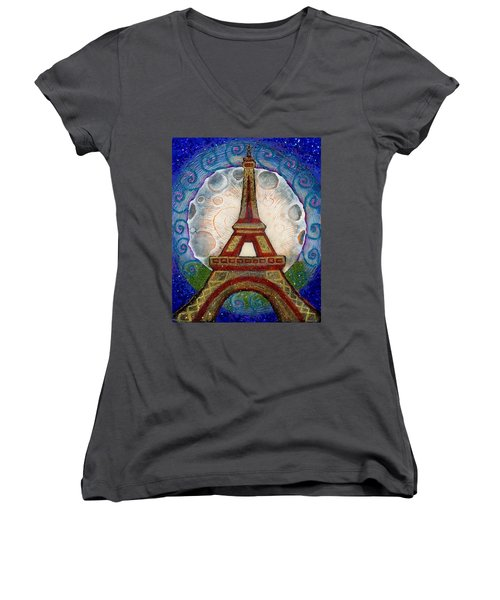 The Evening Of A Ready-wish Upon A Parisian High Point Women's V-Neck (Athletic Fit)
