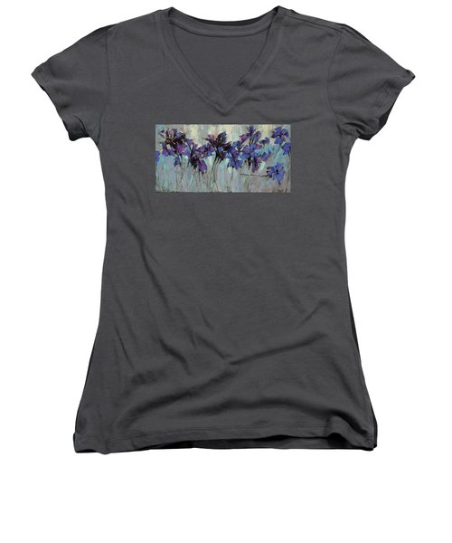 The Evening Was Silver. Women's V-Neck T-Shirt