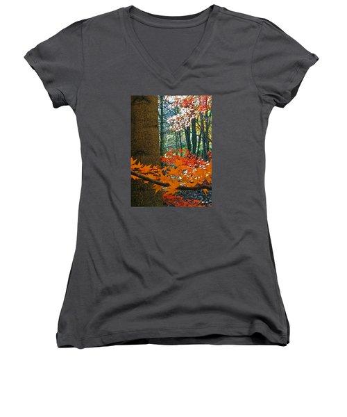 The Ever Elusive Power Lines  But I Got Them Women's V-Neck T-Shirt (Junior Cut) by Cliff Spohn