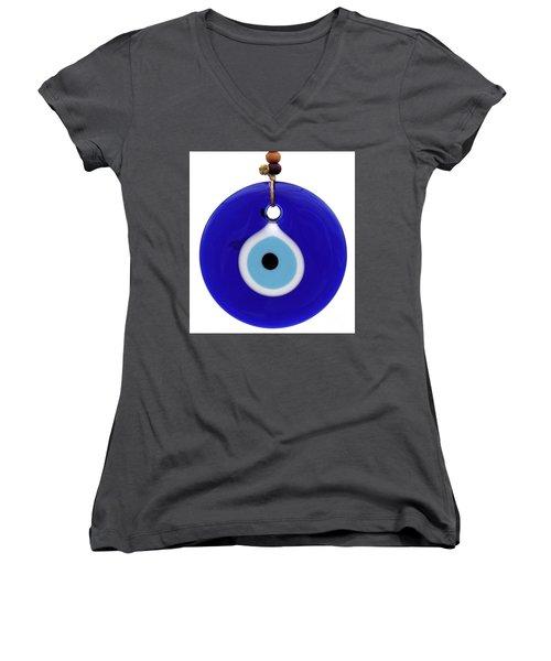 The Eye Against Evil Eye Women's V-Neck