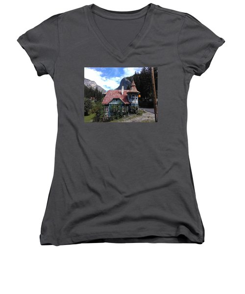 The Fairy Tale House  Women's V-Neck T-Shirt