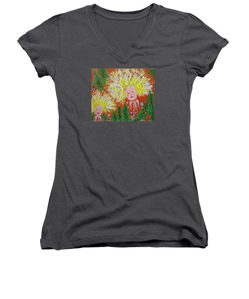 Family 2 Women's V-Neck T-Shirt