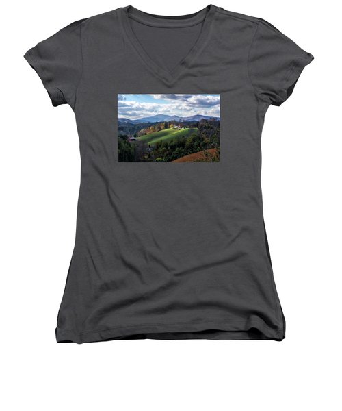 The Farm On The Hill Women's V-Neck