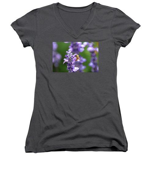 The Fauna And Flora Rendez-vous Women's V-Neck T-Shirt (Junior Cut) by Yoel Koskas