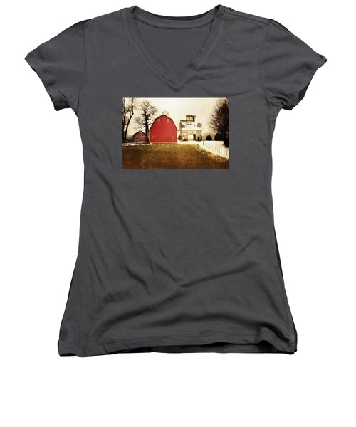 Women's V-Neck T-Shirt (Junior Cut) featuring the photograph The Favorite by Julie Hamilton