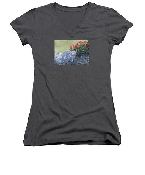 A Feral Cloud Women's V-Neck T-Shirt