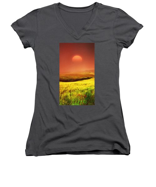 The Fields Women's V-Neck (Athletic Fit)