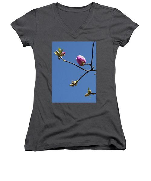 The First To Bloom Women's V-Neck
