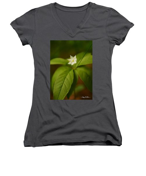 The Flower Of The Dark Woods Women's V-Neck
