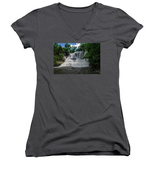 The Flowing Falls Women's V-Neck T-Shirt