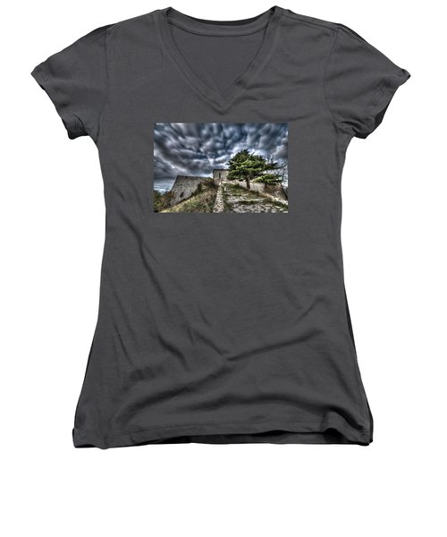 The Fortress The Tree The Clouds Women's V-Neck
